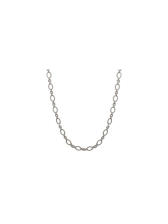 Alternating Textured Link Silver
