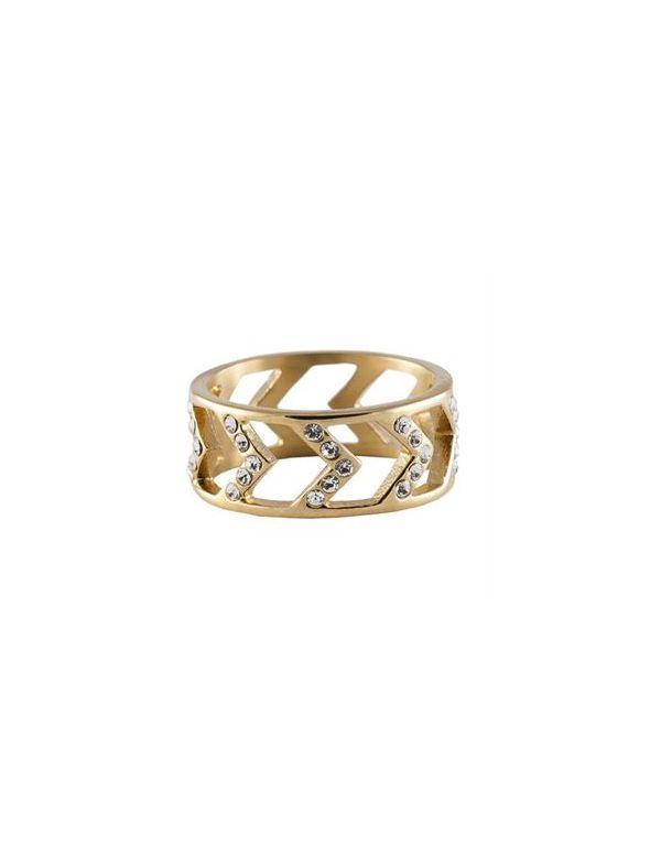 Gold Chevron Ring - Size 7