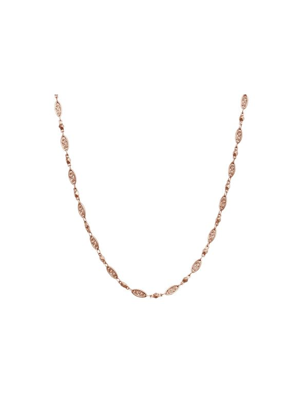 Rose Gold Natalie Chain: 16-19""