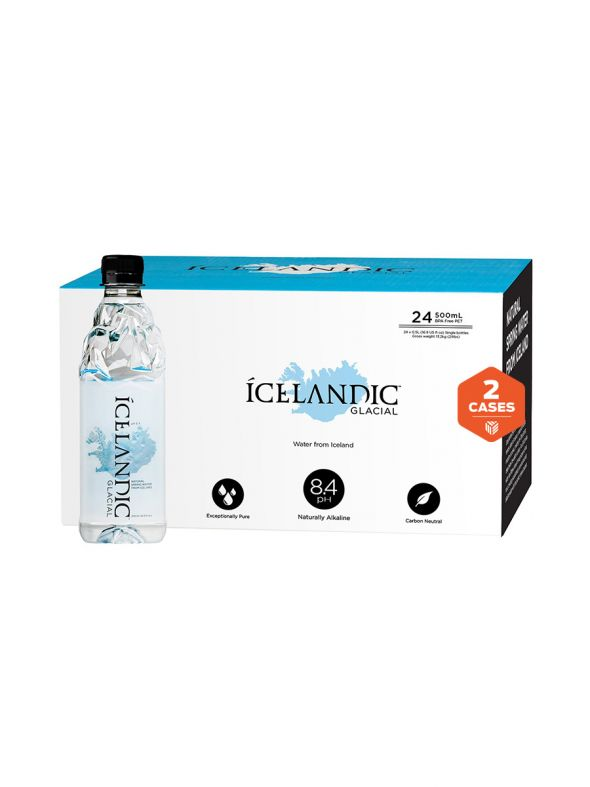 Icelandic Glacial Water [500mL] x2 cases | 48 bottles