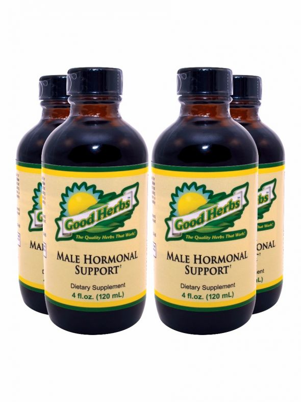 Male Hormonal Support (4oz) - 4 Pack